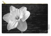 Daffodil Narcissus Flower Black And White Carry-all Pouch