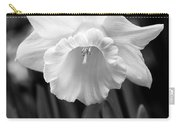 Daffodil Flower Black And White Carry-all Pouch