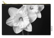 Daffodil Flowers Black And White Carry-all Pouch