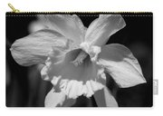 Daffodil In Black And White Carry-all Pouch