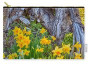 Daffodils And Sculpture Carry-all Pouch