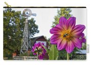 Dahlia Bee And Windmill Carry-all Pouch