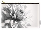Dahlia Flower In Monochrome Carry-all Pouch