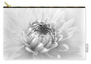 Dahlia Flower Soft Monochrome Carry-all Pouch