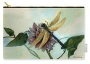 Dahlia With Dragonfly Resting Carry-all Pouch