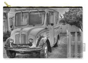 Dairy Truck - Old Rosenbergers Dairies - Black And White Carry-all Pouch