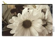Daisies And Charcoal Carry-all Pouch