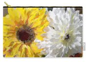 Daisies And Sunflowers - Impressionistic Carry-all Pouch