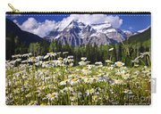 Daisies At Mount Robson Carry-all Pouch by Elena Elisseeva