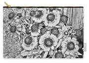 Daisies In Relief Carry-all Pouch