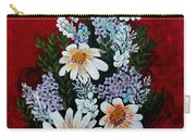 Daisies Lilacs And Forget Me Nots Carry-all Pouch