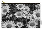 Daisy Cluster Vermont Flowers In Black And White Carry-all Pouch
