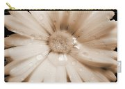 Daisy Dream Raindrops Sepia Carry-all Pouch
