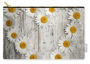 Daisy Heart On Old Wood Carry-all Pouch