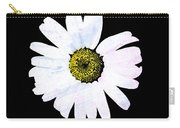 Daisy On Black Carry-all Pouch