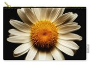 Daisy On Black Square Fractal Carry-all Pouch