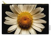 Daisy On Black Square Carry-all Pouch
