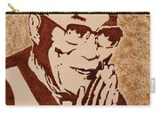 Dalai Lama Original Coffee Painting Carry-all Pouch
