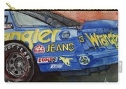 Dale Earnhardt's 1987 Chevrolet Monte Carlo Aerocoupe No. 3 Wrangler  Carry-all Pouch by Anna Ruzsan