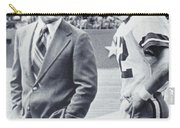 Dallas Cowboys Coach Tom Landry And Quarterback #12 Roger Staubach Carry-all Pouch