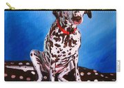 Dalmatian On Spotty Cushion Carry-all Pouch