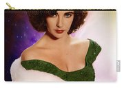 Dame Elizabeth Rosemond 'liz' Taylor - Featured In 'comfortable Art' Group Carry-all Pouch