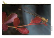 Damselfly On End Of Burning Bush Stem             Summer               Indiana Carry-all Pouch