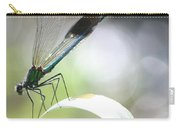 Damselfly On Little River  Carry-all Pouch