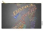 Dance Lovers Silhouettes Typography Carry-all Pouch