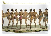 Dance Of The Caroline Islanders, Plate Carry-all Pouch