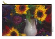 Dance With Me - Sunflower Still Life Carry-all Pouch by Talya Johnson