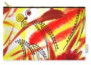 Dancing Lines And Flowers Abstract Carry-all Pouch