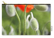 Dancing Orange Poppy Flower Pods Carry-all Pouch