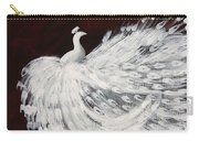 Dancing Peacock Burgundy Carry-all Pouch