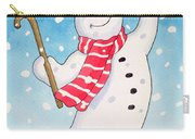 Dancing Snowman Carry-all Pouch by Lavinia Hamer