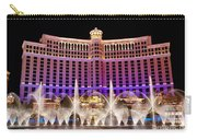 Dancing Waters - Bellagio Hotel And Casino At Night Carry-all Pouch