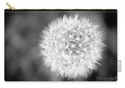 Dandelion 2 In Black And White Carry-all Pouch