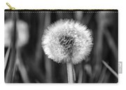 Dandelion Fluff Black And White Carry-all Pouch