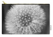 Dandelion Fluff In Black And White Carry-all Pouch
