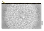 Dandelion Marco Abstract Gray Carry-all Pouch