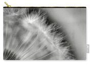 Dandelion Seeds - Black And White Carry-all Pouch