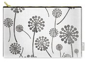 Dandelion Seeds Grey Carry-all Pouch