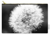 Dandelion Square Portrait In Black And White Carry-all Pouch