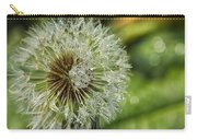 Dandelion With Water Drops Carry-all Pouch