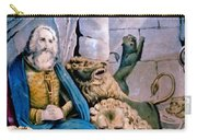 Daniel In The Lions Den Carry-all Pouch by Currier and Ives