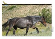 Dark And Wild Horse Carry-all Pouch by Sabrina L Ryan