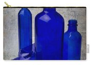 Dark Blue Bottles Carry-all Pouch