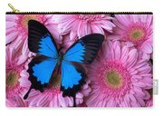 Dark Blue Butterfly Carry-all Pouch