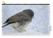 Dark Eyed Junco - Digital Snowflakes Carry-all Pouch