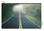 Dark Foggy Country Road Carry-all Pouch